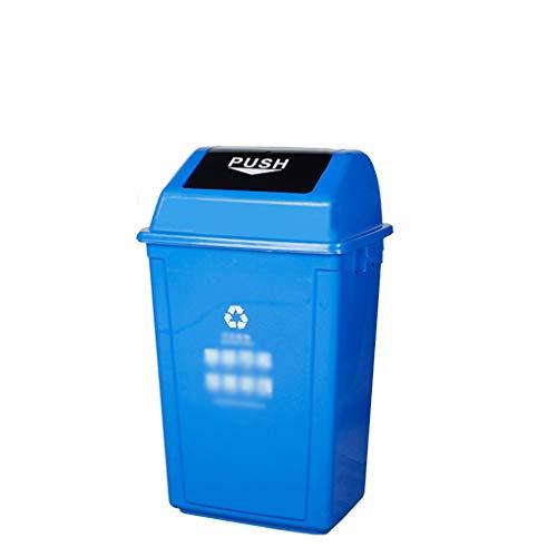 C-J-Xin Outdoor Trash Can, Kunststoff Eindickung Große Recycling Bins Street Garden Garbage Sorting Box Verschiedene Größen Hohe Kapazität (Color : Blue, Size : 46 * 31 * 75CM)