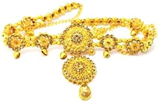 Gupta ASA Jewellers Traditional Pearls Waist Belt Saree Tagdi Kundan & Stone Kamarband for Women – Ladies Fancy Ethnic Gol...