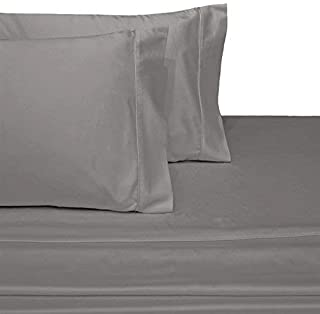 OnlineBestDeal's Split Top California King (Adjustable, Flex Top Cal King Size) 100% Egyptian Cotton, Solid Silver Grey, 800 Thread Count, Sateen Weave, 15 inch Deep Pocket Bed Sheet Set