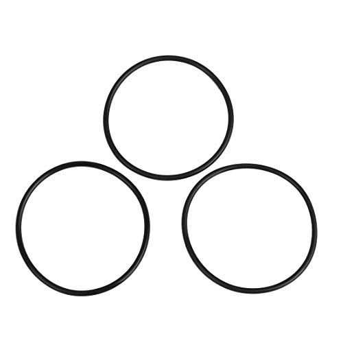 sourcing map 3Stk.AS568A NBR70 Gummi O-Ring Dichtungsdichtung 55.25 x 2.62mm für Auto Schwarz