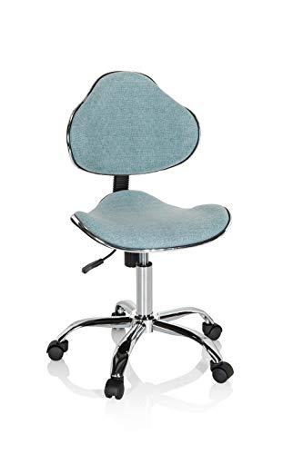 hjh OFFICE 634133 Kinder Schreibtischstuhl KIDDY GTI-3 Stoff Mint-Grün Kinderbürostuhl Drehstuhl ergonomisch, mitwachsend