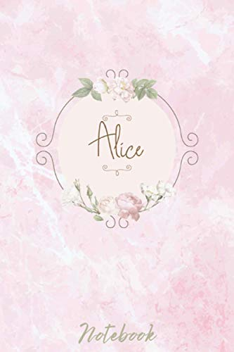 Alice: Personalised Notebook/Journal Gift For Women & Girls 120 Pages