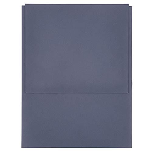 Design Briefkasten KANT mit innenliegendem Zeitungsfach - RAL 7016 anthrazitgrau