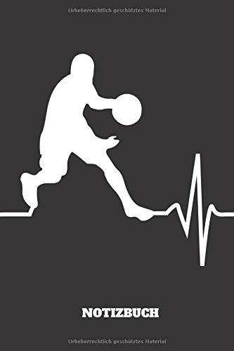 Notizbuch: Cooles und lustiges Basketball Notizbuch | Notizheft | Planer | Tagebuch | Journal - 120 karierte Seiten - DIN A5 - Geschenk für Basketballer