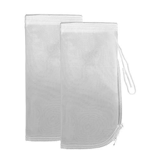 Green Piece Best Quality Nut Milk Bag-Reusable Strainer Set Nut Bag for Almond Yogurt Organic-12'' X 12'' Strong Filter Cloth Cold Brew Coffee Bag-Commercial Nut Milk Maker Mesh Strainer Pack of 2
