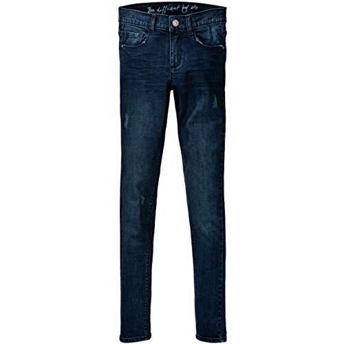 Staccato Mädchen Jeans Kate - Slim Fit - Skinny Stretch - Dark Blue Denim - 5-Pocket-Style - Casual Größe 140