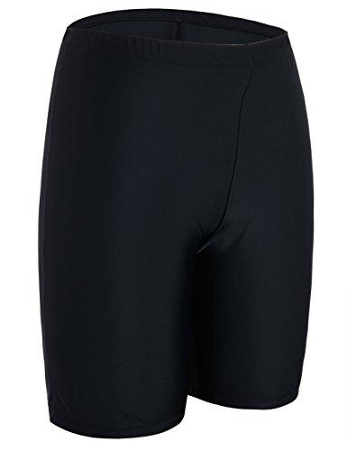 Firpearl Women's UPF50+ Sport Board Shorts Swimsuit Bottom Capris US8 Black