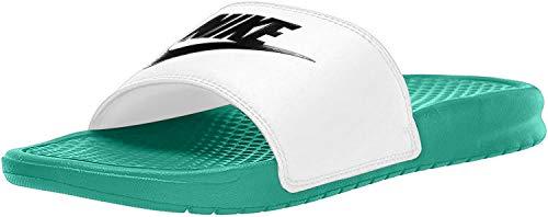 Nike Jungen Benassi JDI Dusch- & Badeschuhe, Mehrfarbig (Hyper Jade/Black/White 000), 37 EU