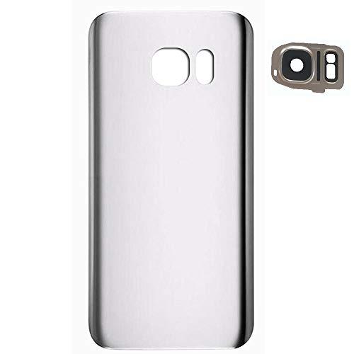 Akkudeckel Ersatz für Samsung Galaxy S7 Edge SM-G935F (Silber) Cover Rückseite Reparaturteil Mit Tool Kit