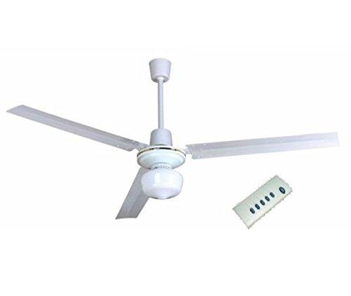 Ventilador techo 120 cm con luz y mando a distancia. Potencia 65W. Color blanco