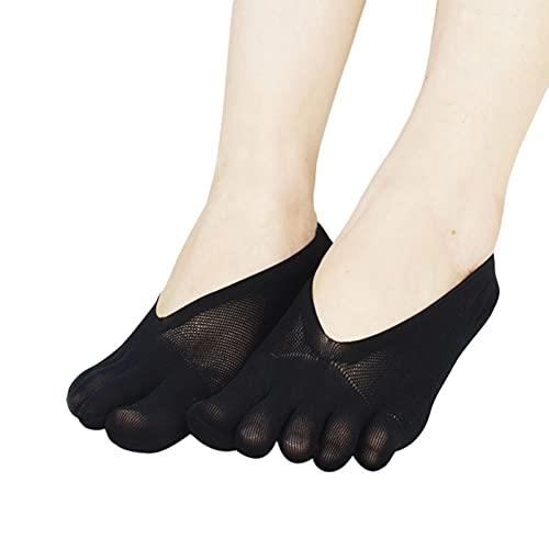 xiangqian Calcetines ortopédicos de compresión para mujer, calcetines de corte ultra bajo con pestaña de gel transpirable