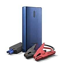 POWERFUL JUMP STARTER - Suitable for most 12V vehicles, 400A peak current allows you to jump start any 12V car, truck, boat, or motorcycle FAST CHARGING - Designed with dual USB outputs (5V/2. 4A for USB-A, 5V 2. 6A/9V 2A for USB-C), the dual USB por...