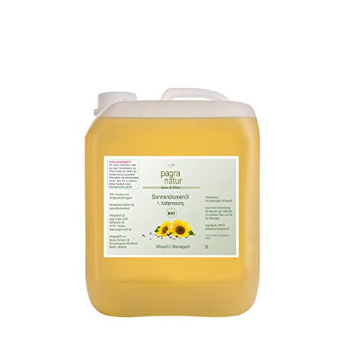 pagra natur Sonnenblumenöl 1. Kaltpressung bio*, 5l Kanister