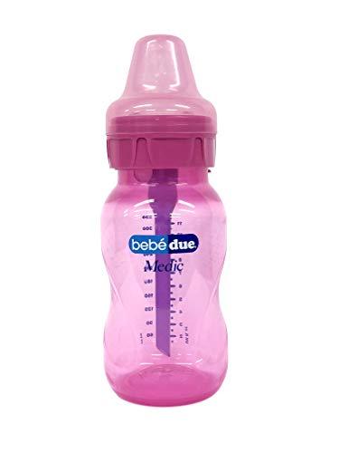 Bebé Due - Biberones, Unisex, Rosa, 330 ml