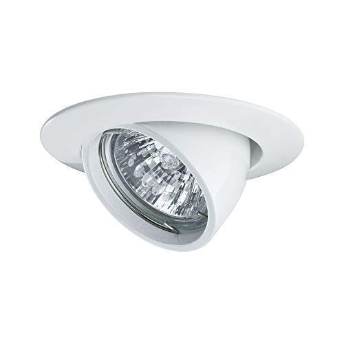 Paulmann 98773 Einbauleuchte Premium Line 51 mm Weiß kippbar Einbaulampe max. 1x50W Einbaulicht Niedervolt 12V Spot GU5,3 Deckeneinbau Einbaustrahler, Aluminium, GU5.3