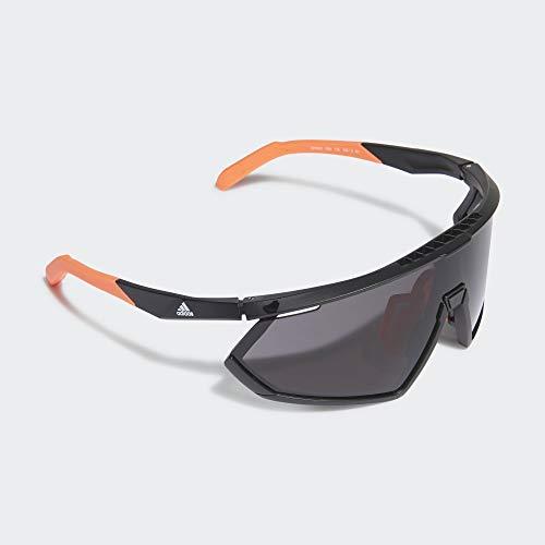 adidas Brille für Radsport und Laufen, matt, Schwarz/Orange, Unisex