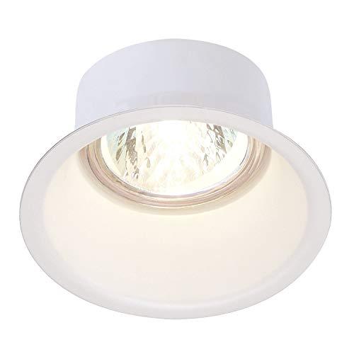 SLV Foco de techo LED encastrable HORN-O   Foco de techo blanco, redondo y regulable para iluminación interior   Proyector LED empotrado en el techo   Techo, Lámpara empotrada, 1 Lámpara   GU10 QPAR51, CEE E-A ++