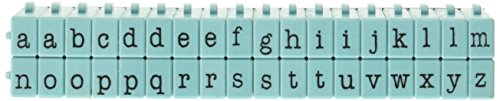 Contact USA Pegz Alphabet-Stempel-Set, ansteckbar, Tiffany-Blau, mittelgroß