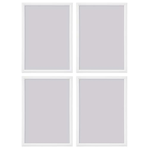 Ikea YLLEVAD White 13x18cm Lightweight Photo Frames, Plastic & Paperboard - Set of 4