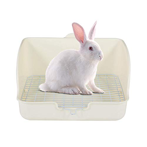 PPING Jaula Hamster Baño Jaula Conejo Baño Guinea Pig Litter Tray Guinea Pig Cages Indoor Tray Rabbit Cage Hamster Cage Tray Hamster Toilet Rabbit Toilet White