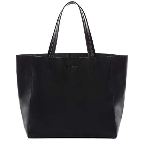 FEYNSINN Borsa a mano vera pelle FRIDA grande XL borsettamanico borsa a spalla donna nero