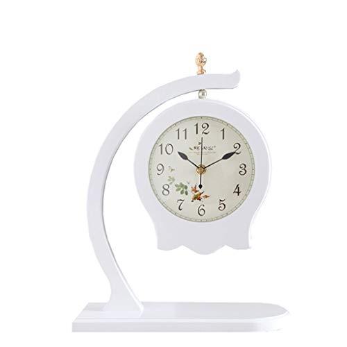 NYKK Relojes de Escritorio 15.7 Pulgadas Inicio Creativo Pastoral Doble Cara Sentado Reloj Sala de Estar Dormitorio Estudio Reloj Office Art Desk Desk Clock Reloj de Mesa (Color : A)