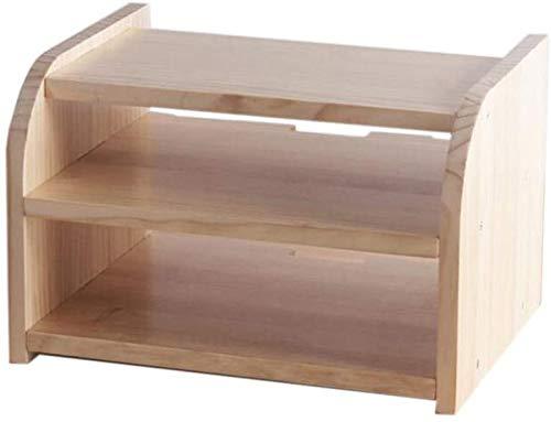 Cajas de almacenamiento enrutador WIFI, estante flotante de montaje en pared, caja de tv de televisor, estante de caja, estante de almacenamiento de madera, capa única / doble capa (color: doble barni