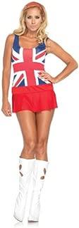 Women's 3 Piece Cheeky British Flag Dress Costume
