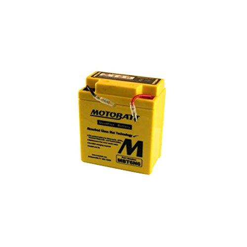 Motobatt MBT6N6 6V 6Ah Motorcycle Battery Replaces 6N6-3B