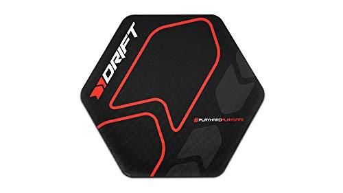 Drift Floor Pad -DRFLOORPAD- Alfombrilla Gaming de Suelo, Vinilo Texturizado, Hexagonal, Resistente al agua, Antideslizante, 88 x 100 x 0,3 cm, color negro 🔥