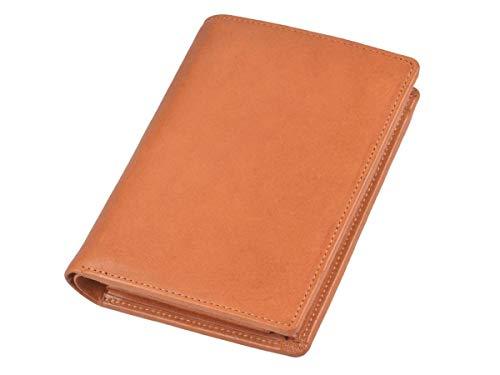 Sonnenleder Geldbörse Leder mit herausnehmbarem Ausweisetui Herren Damen Portemonnaie Geldbeutel RHEIN Natur braun