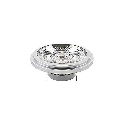 Luxar AR111 - Bombilla reflectora led (12 V, 11,1 cm de diámetro, 5,5 cm de longitud, G53, 16 W, 2700 K, 1100 lm, 24°, CRI>90, intensidad regulable)