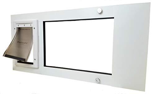 Patio Pacific Inc. Vertical Window Cat Door Insert with Small Vinyl Pet Door
