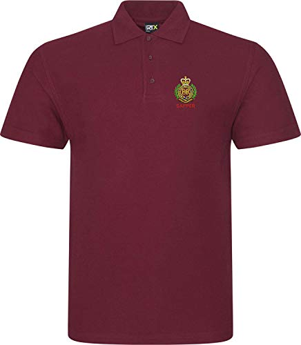 Royal Engineers Badge Sapper - British Army Embroidered Polo Shirt