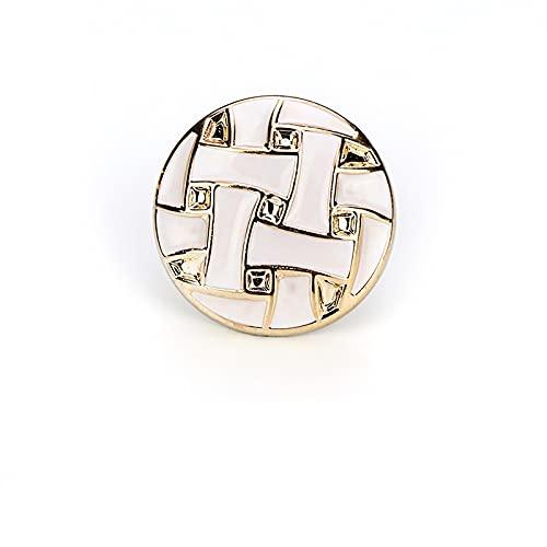 Botón retro para coser botón manual traje botones hebilla decorativa solo agujero botón