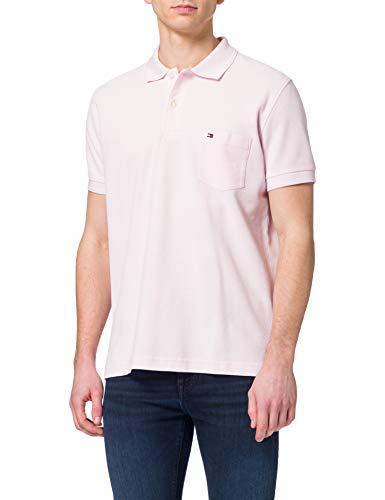 Tommy Hilfiger Herren Structured Pocket Regular Polo Polohemd, Hellrosa, M