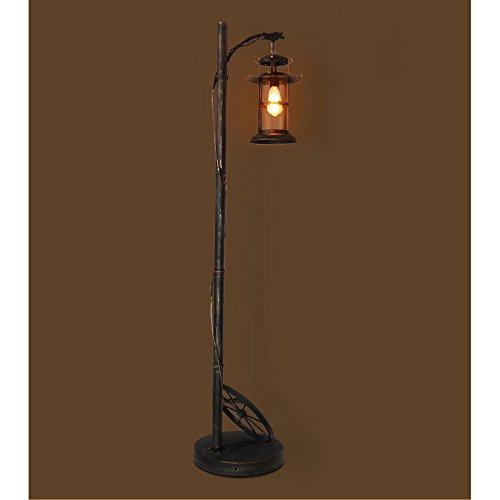Industriële retro vloerlamp zwart goud woonkamer vloerlamp glazen scherm restaurant bar staande lamp, hoge 169cm E27 (niet inbegrepen)