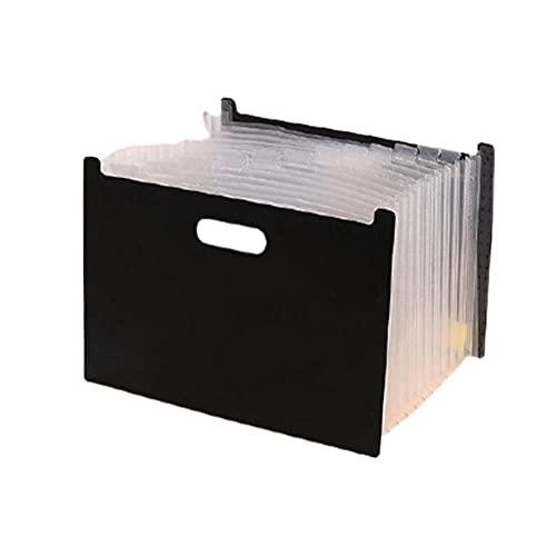 TOMOP Carpeta de archivos expandible A4 organizador de documentos de plástico expandible caja de archivo, 13 bolsillos para el hogar, la oficina, la escuela, empresas, archivos de almacenamiento