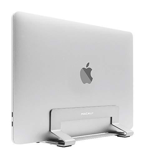 Macally VCSTANDA Aluminium, vertikaler Notebook Ständer für Apple MacBook, MacBook Air, MacBook Pro und alle Laptops von 13 bis 17, edles und Elegantes Alu Design