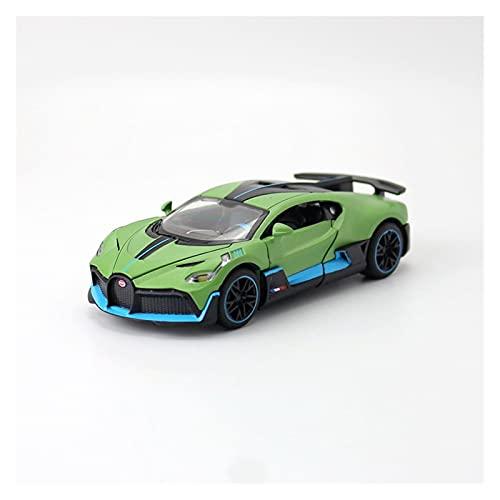 Kit Juguetes Coches Metal Resistente Modelo De Coche Fundido A Presión 1:32 para Bugatti DIVO Super Sport Aleación Modelo De Coche De Juguete Decoración Estática Maravilloso Regalo (Color : Verde)