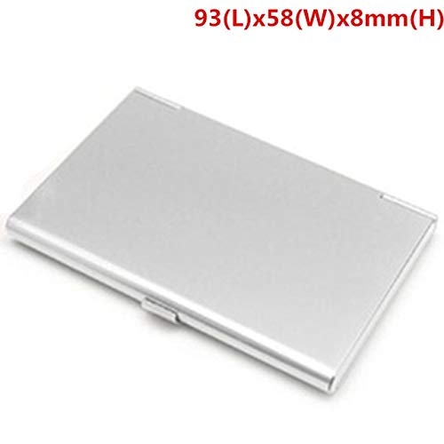 Mdsfe New Aluminum Storage Box Business ID Credit Card Holder Mini Suitcase Bank Card Box Holder Jewelry Case Organizer Rectangle - Sliver 2