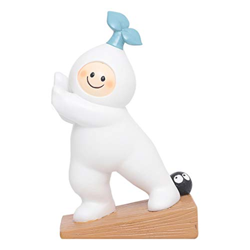 N/A/ HipyYAN Cute Cartoon Radish Door Stopper Resin Safety Finger Guard Protector Bookend