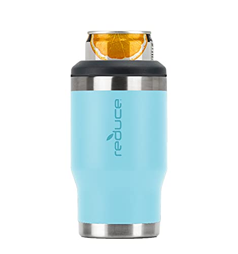 Reduce 4-in-1 Stainless Steel Bottle and Can Insulator – This Drink Cooler Keeps Bottles, Cans, Skinny Cans and Mixed Drinks Ice Cold – Sweat-Free, Perfect for Outdoor Drinking – Gulf Stream