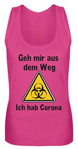 Generisch GEH Mir aus Dem WEG - ich hab Corona - Coronavirus Corona-Virus - Camiseta de Tirantes para Mujer Pinky XL