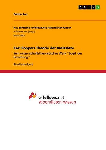Karl Poppers Theorie der Basissätze: Sein wissenschaftstheoretisches Werk