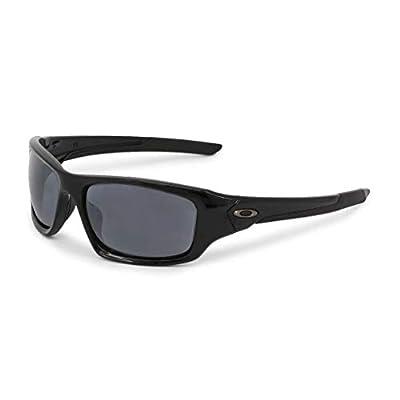 Oakley Men's Valve Polarized Rectangular Sunglasses, Black, 60.8 mm