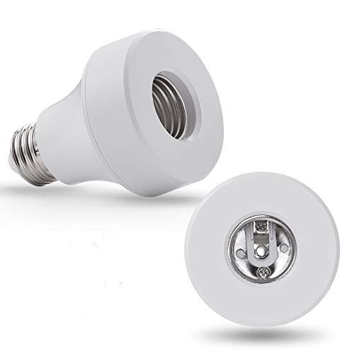 WiFi Smart Light Bulb Socket Bulb Adapter Base Converter E26 Lamp Holde Plug Works with Alexa and Google Home Assistant Phone APP Remote Control Your Fixtures From Anywhere 1-pack