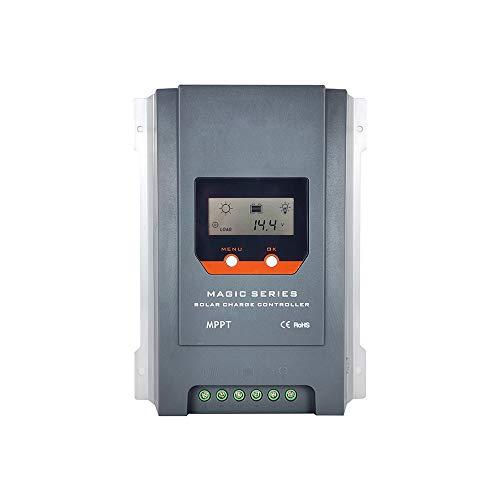 Temank Régulateur de charge solaire MPPT 40 A 12 V 24 V Régulateur solaire avec écran LCD rétro-éclairé