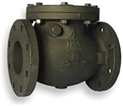 Swing Check Valve, Cast Iron, 4 In, Flanged