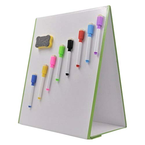 Set Includes 4 Pens and Board Rubber A4 Dry-Wipe Yellow Magnetic White// Lap Board with Legs Wedge Whiteboards